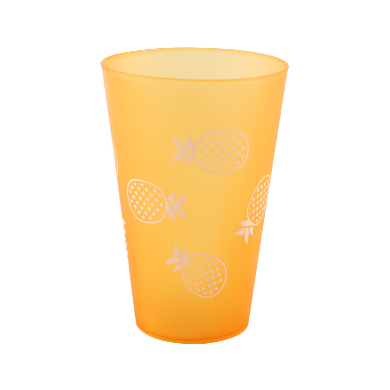 400ml 14oz Food Grade Plastic PP Clear Cup BPA Free Promotional Reusable Frosted Cup