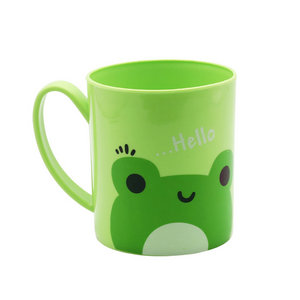 14oz 400ml customize logo safety plastic coffee mug/water mug with handle promotion OEM cup