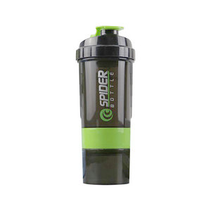 Hot sale 3 layer BPA free water bottle customized logo plastic gym protein shake bottle