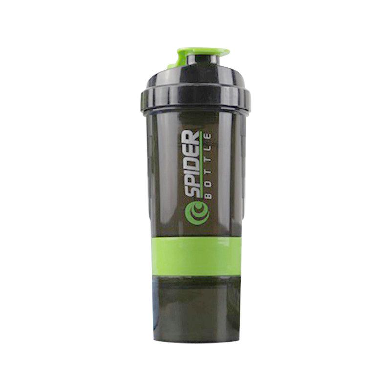Hot sale 3 layer BPA free water bottle customized logo plastic gym protein shake bottle