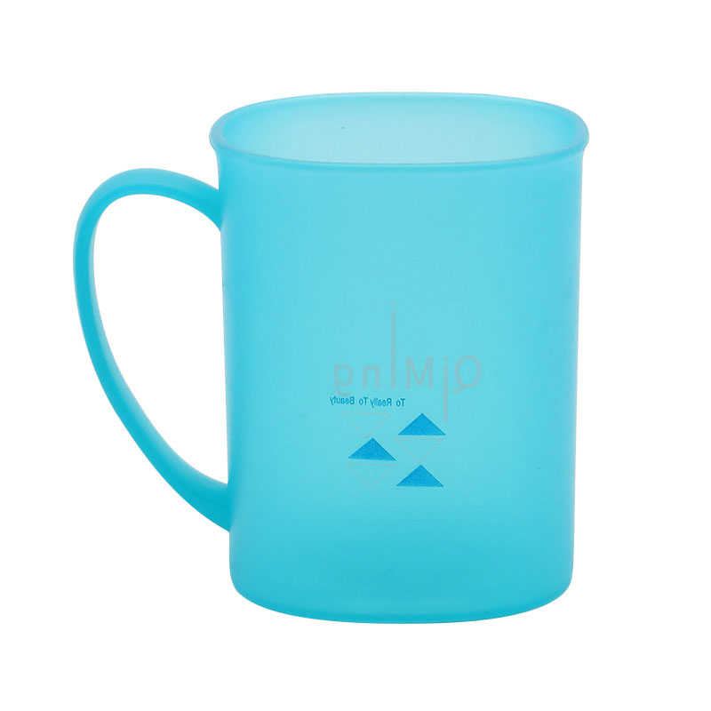 350ML custom logo square plastic tooth cup
