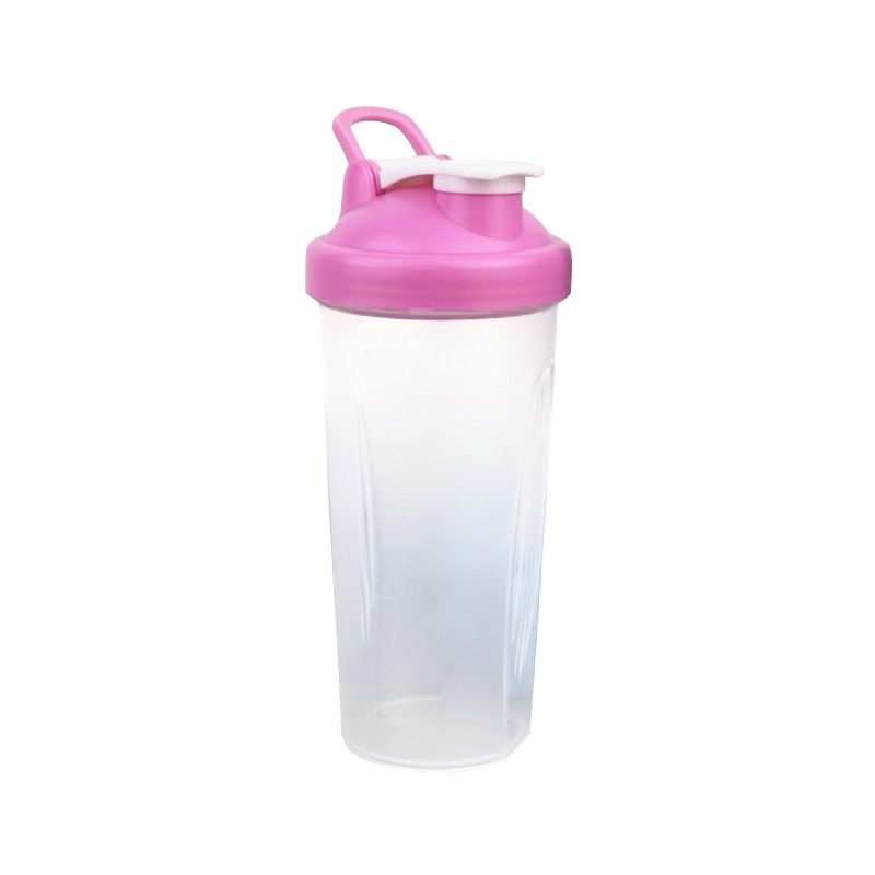 BPA free customized logo 600ml plastic sports protein shake water bottle with 304 Stainless Steel Ball