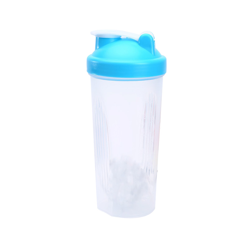 304 Stainless steel ball eco-friendly 600ml plastic fitness protein shake water bottle