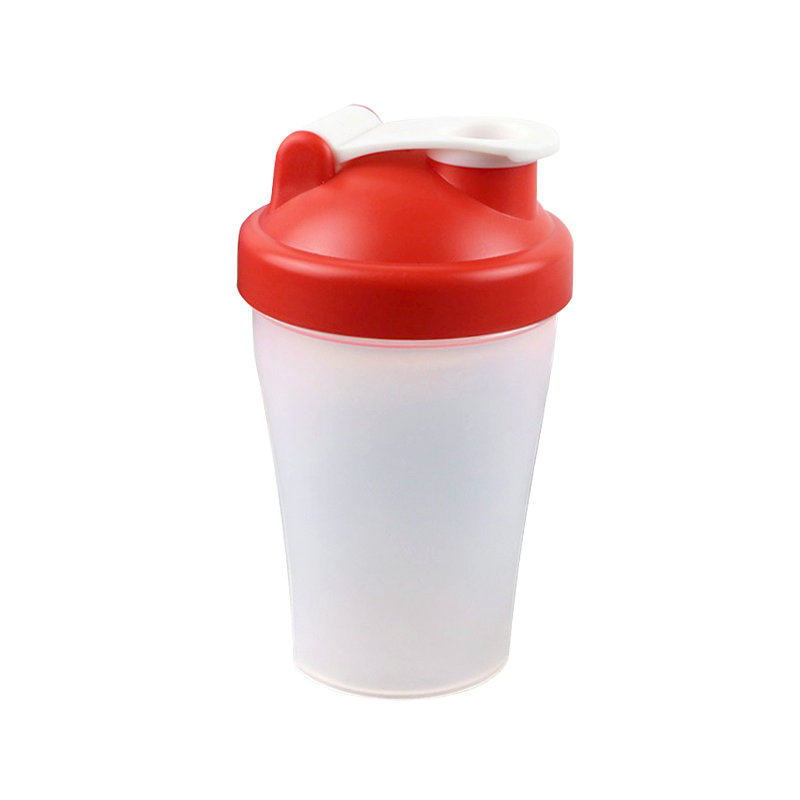 400ml plastic shake water bottle water bottle for sport with ball