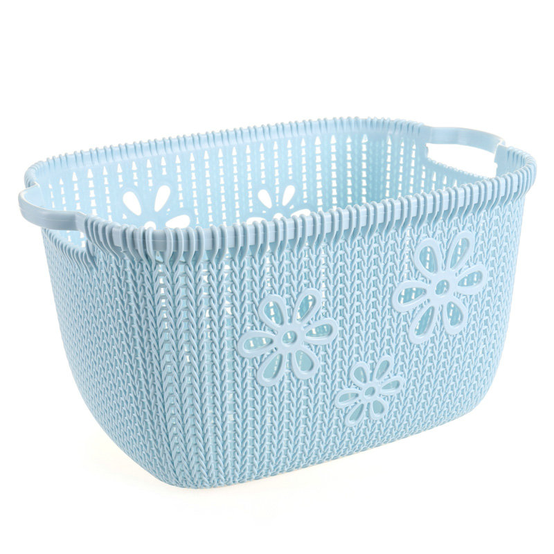 Manufacturer bathroom laundry dirty clothes basket plastic storage rattan basket children toys storage basket