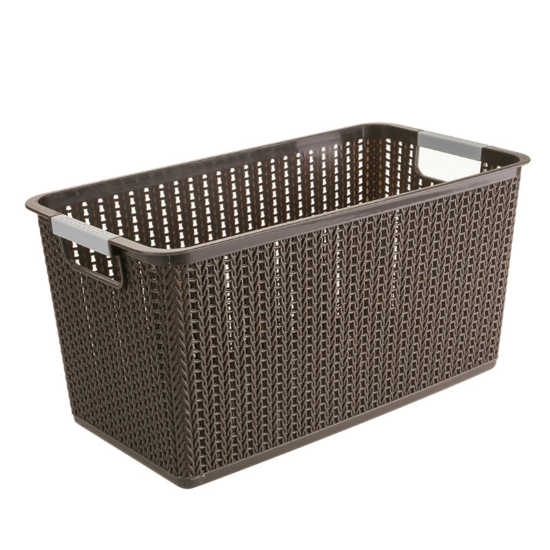 Rectangular rattan basket plastic storage basket