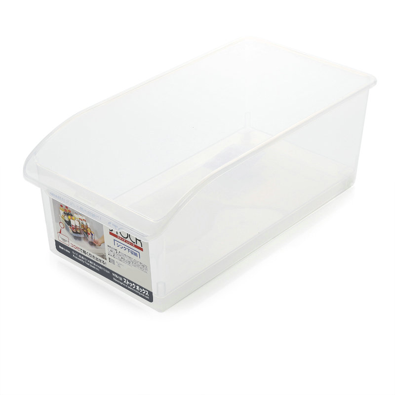 Kitchen use plastic refrigerator storage boxes with wheel