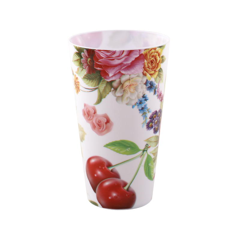 Custom logo reusable 400ml plastic printed cups plastic water cup
