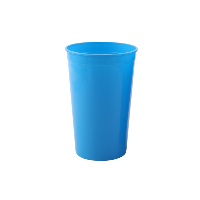 New Design Advertising Logo Colorful Transparent Eco-Friendly Plastic 16oz Reusable Simple Party Drink Cheap Stadium Cup