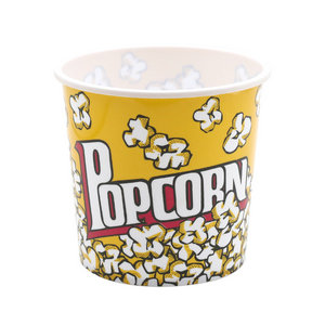 1500ml Hot Sale BPA Free Promotion Custom Printing OEM PP Plastic Popcorn Bucket