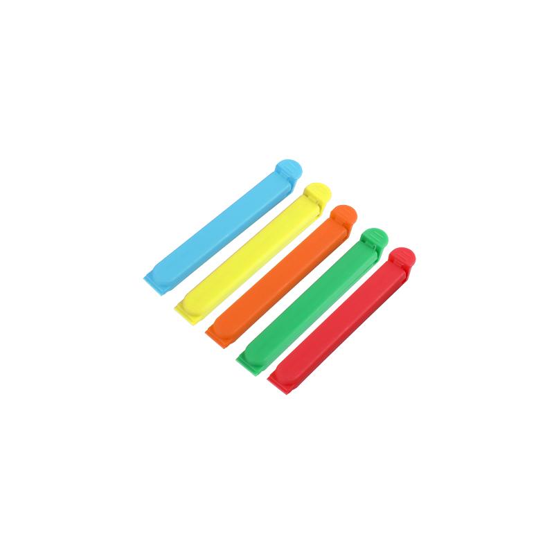 QM factory direct sale11cm wave shape plastic bread bag clip plastic food bag seal clip