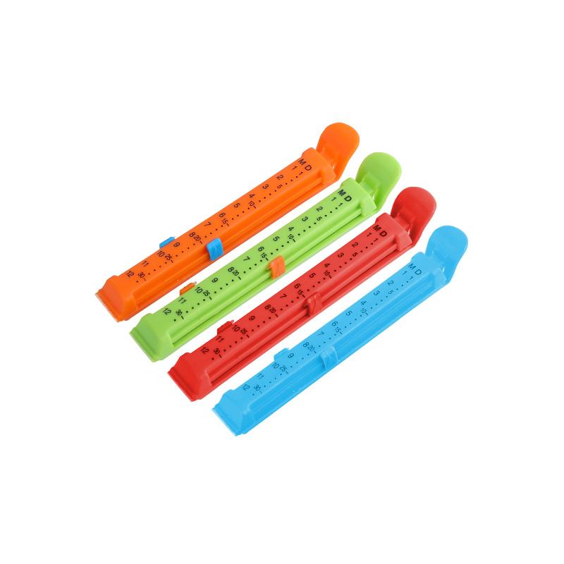 QM wholesaler zhejiang factory 6.3' pp plastic fresh date bread bag clip