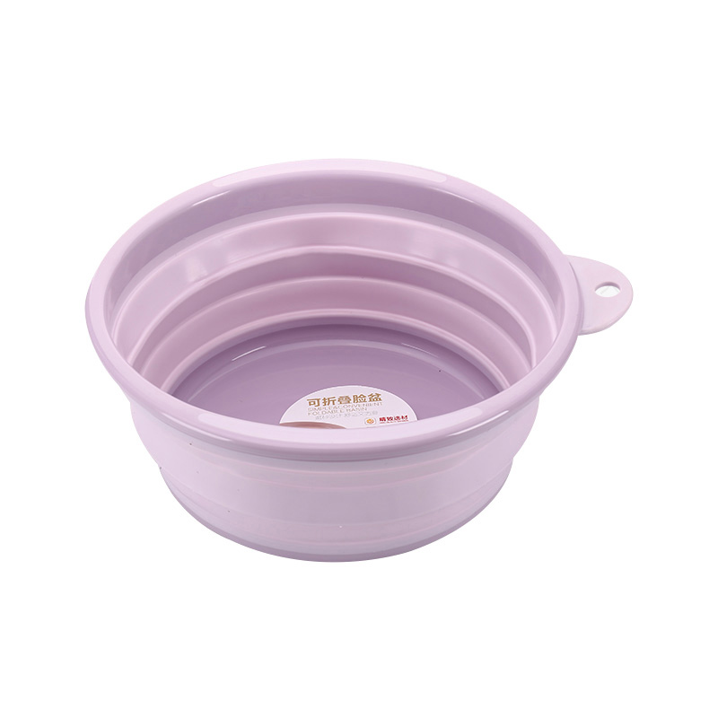 China Supplier wholesale foldable silicone basin plastic folding wash basin household